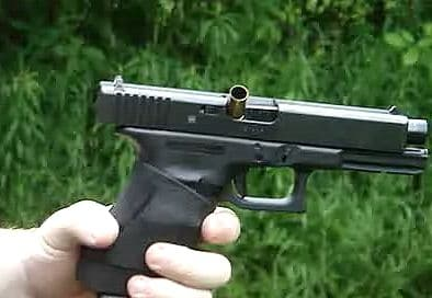 a picture of Glock stovepiping