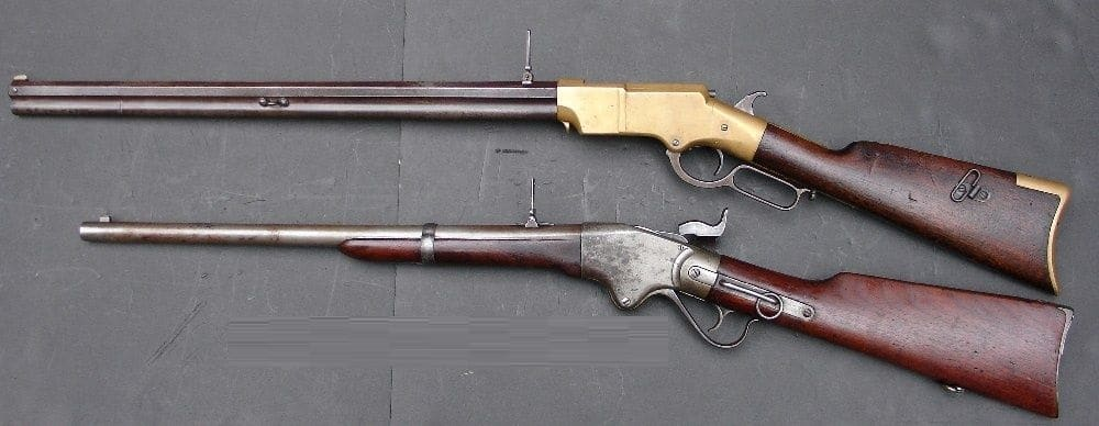 a picture of the Henry Rifle and the Spencer Rifle