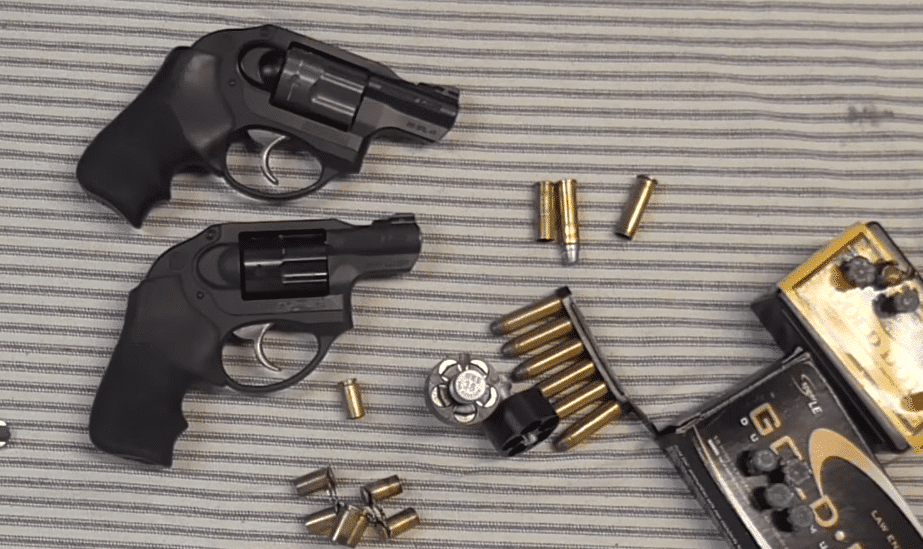 a picture of two Ruger LCRx revolvers one for 9mm and another for 38 special
