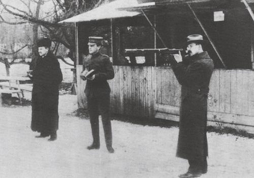 Hiram Percy Maxim fires springfield rifle with model 15 suppressor