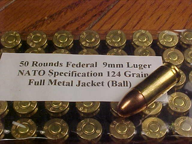 a picture of 9mm NATO rounds