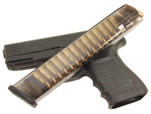 a picture of a Glock 19 with a 33-round magazine