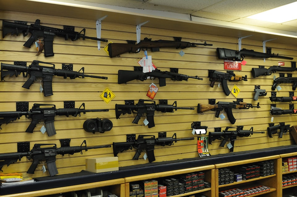 image of a gun store