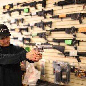 gun handling in a gun store