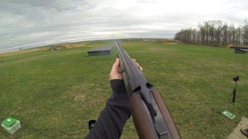 stoeger condor shotgun at gun range