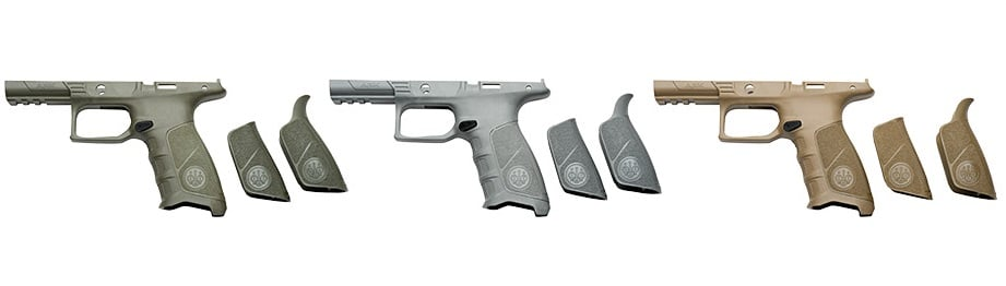 a picture of different Beretta APX Interchangeable Backstraps
