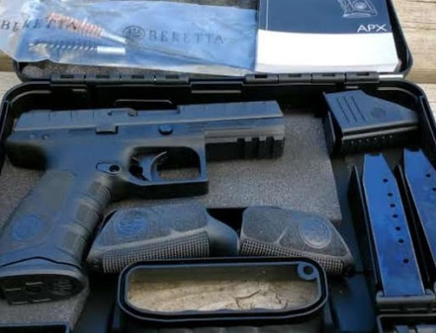 a picture of the Beretta APX new in box