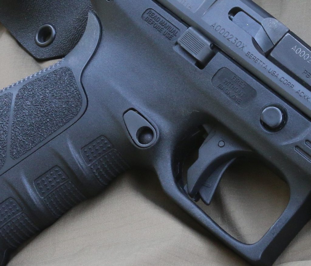 a picture of the Beretta APX trigger
