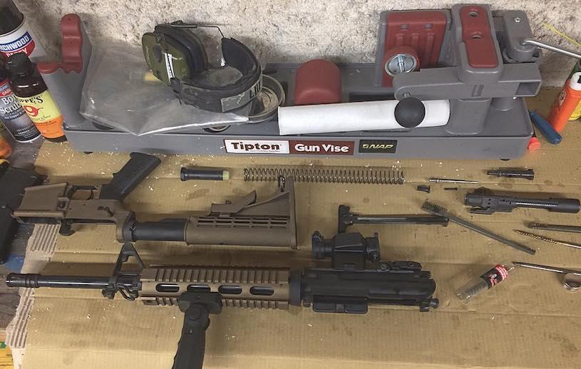 tipton gun vise for cleaning