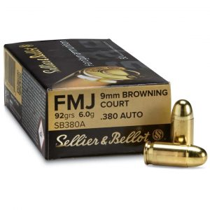 a picture of 380 ACP FMJ ammo