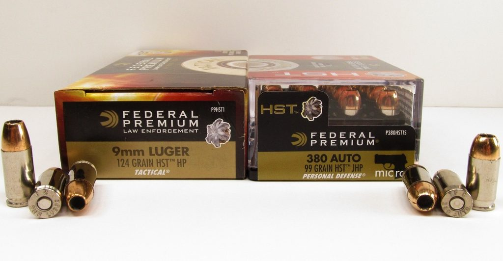 a picture of 9mm and 380 ACP ammo