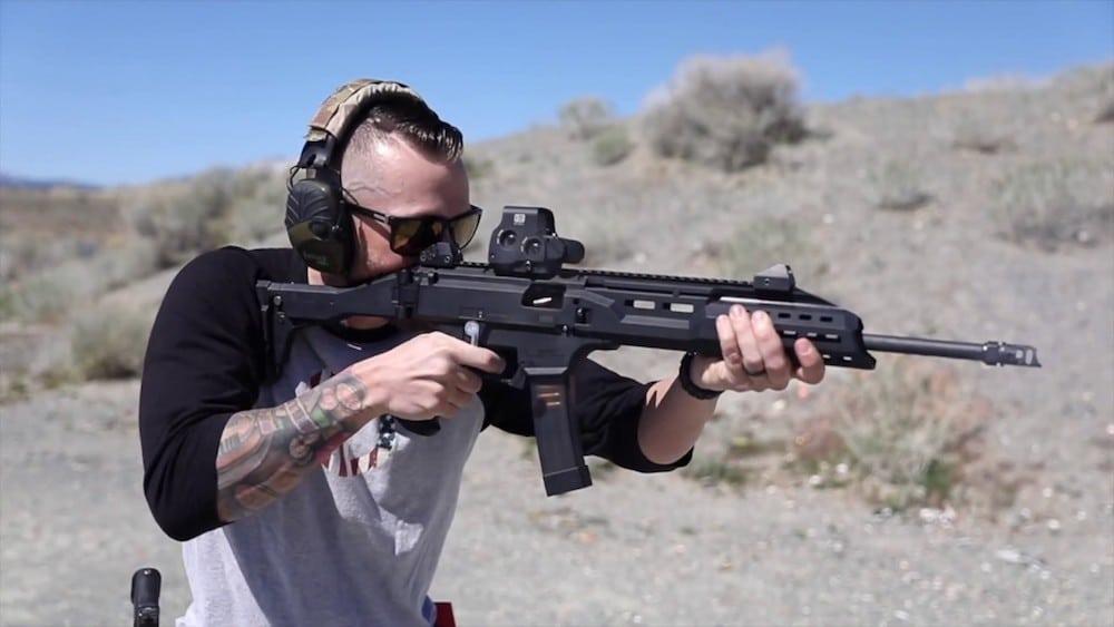 BFSIII for CZ Scorpion in gun range