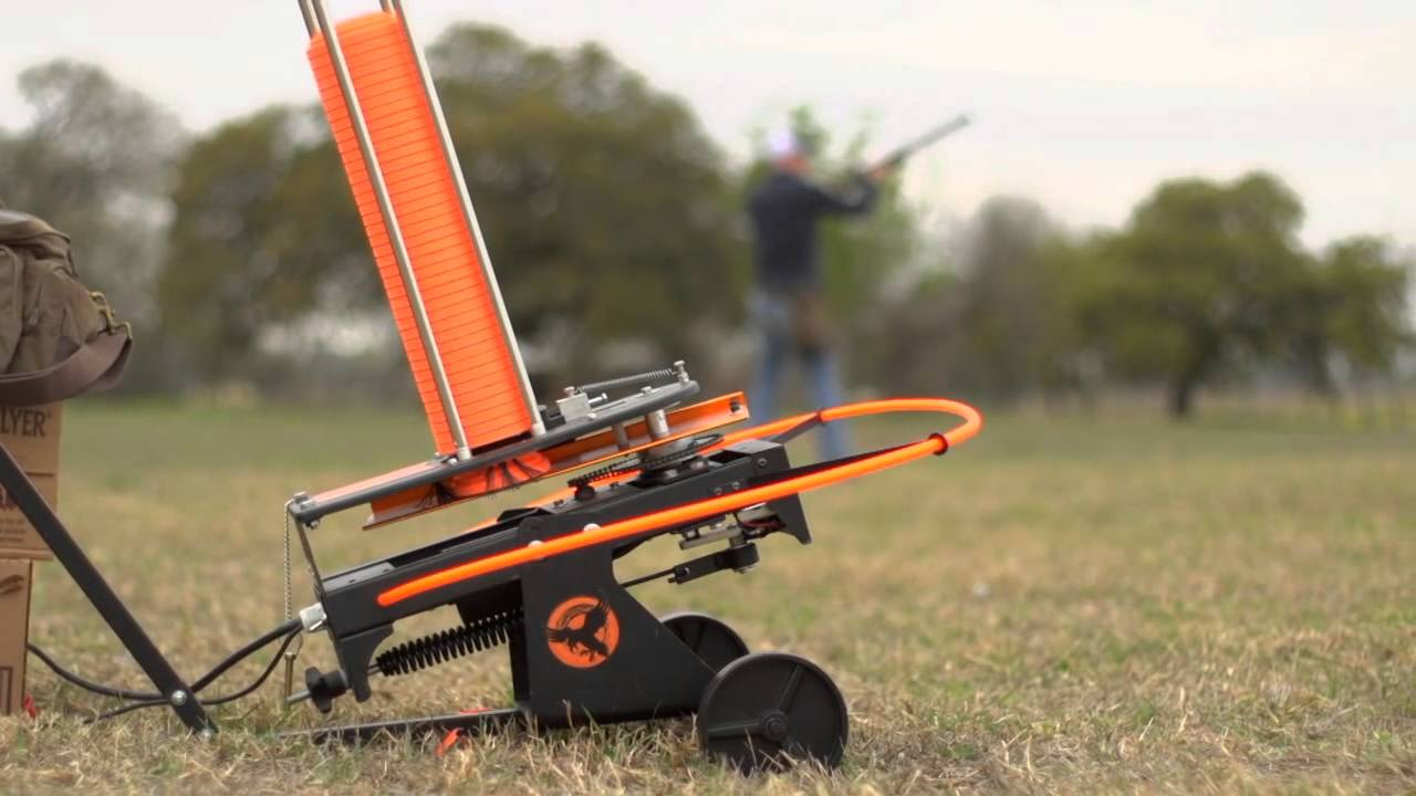 Backyard Clay Pigeon Thrower for shooting practice