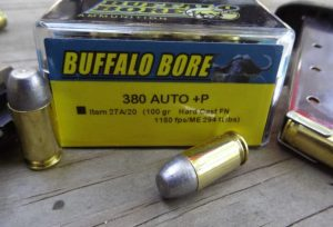 a picture of Buffalo Bore's 380 Auto +P HC-FN