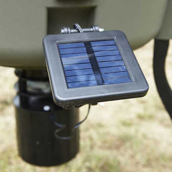 deer feeder with solar panel