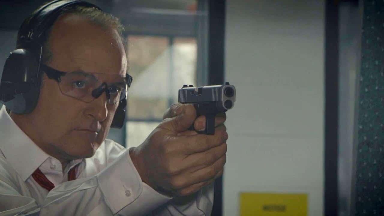 glock pistol shooting in range