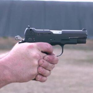 handling 40 caliber pistol
