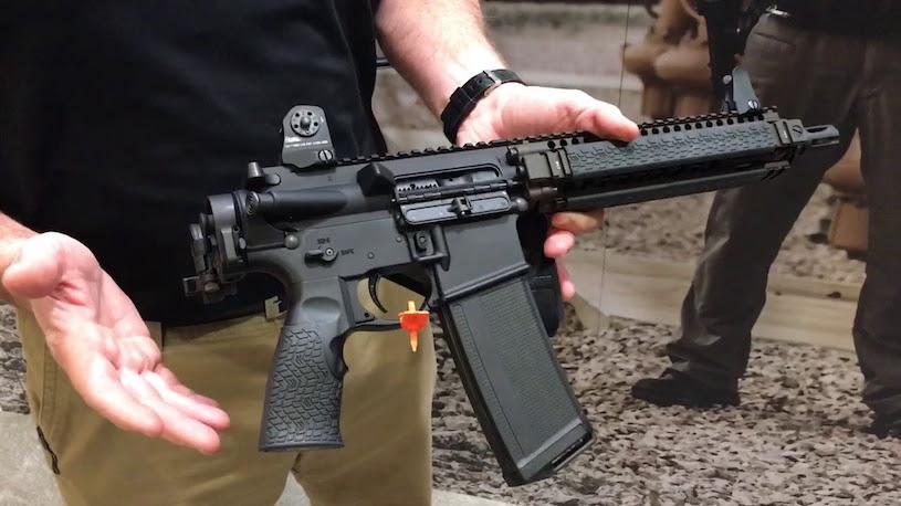 ar-15 pistol in gun store