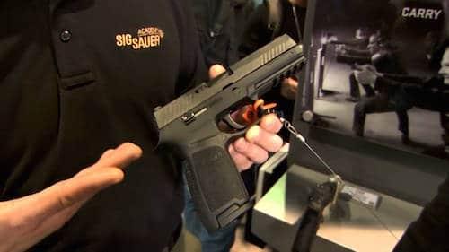 sig sauer p320 pistol at gun show