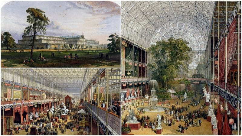 a picture of the crystal palace where the 1851 London Exposition was held
