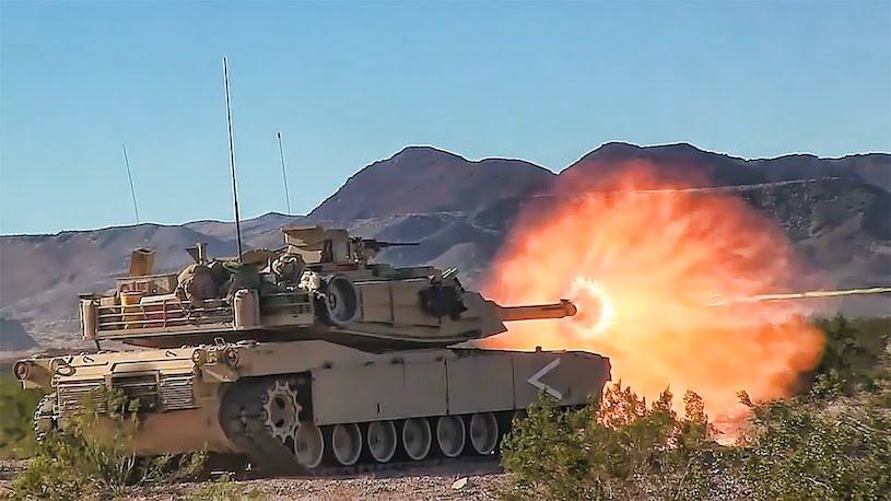 Abrams Tank Fire