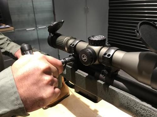 gun vise scope zeroing