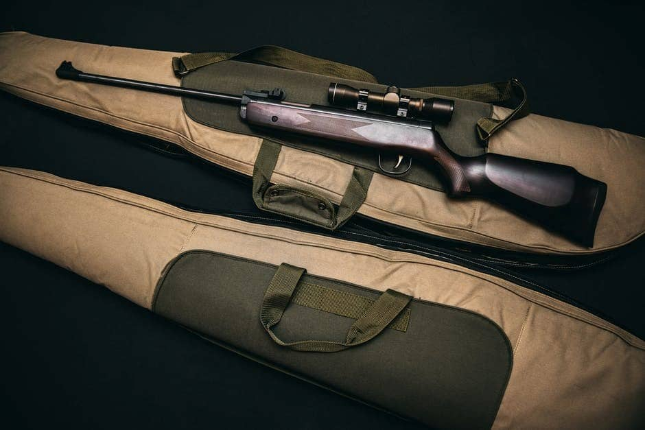 rifle with gun case