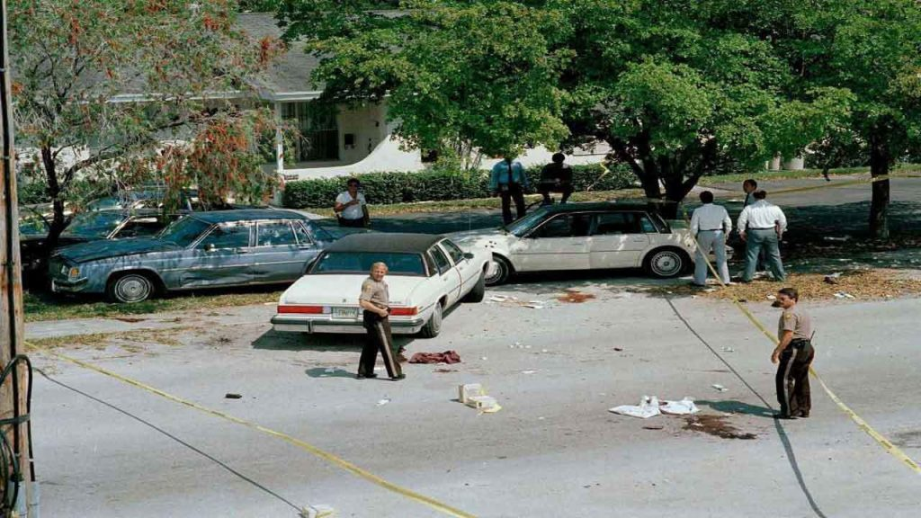 A picture of the aftermath of the 1986 Miami Shootout