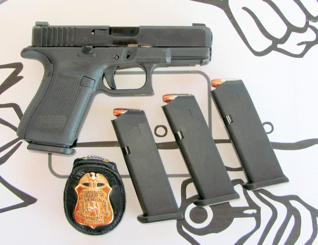 A picture the FBI's new standard issue sidearm