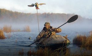 hunting kayak with camo