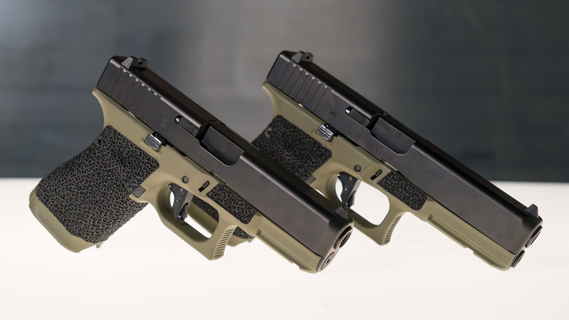aftermarket glock slides on two glock models in 2019