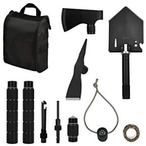 Iunio Military Portable Folding Shovel and Pickaxe