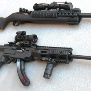 2 rifles