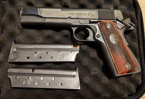 A picture of a Colt .38 Super