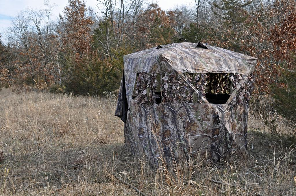 ground blind for bowhunting