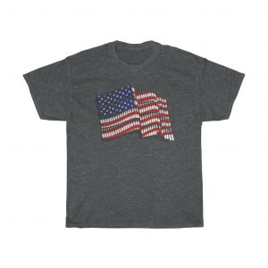 american flag t-shirt black color