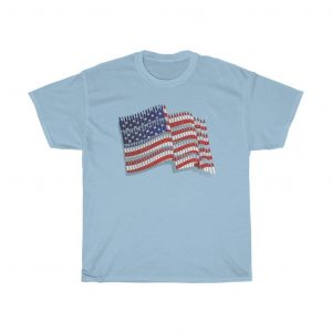 american flag t-shirt blue color