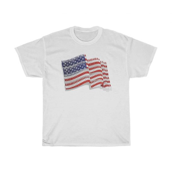 american flag t-shirt white color