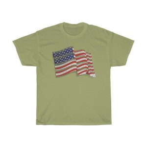 american flag t-shirt yellow green color
