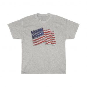 american flag t-shirt light grey color