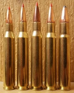 a picture of .30-06 Springfield cartridges