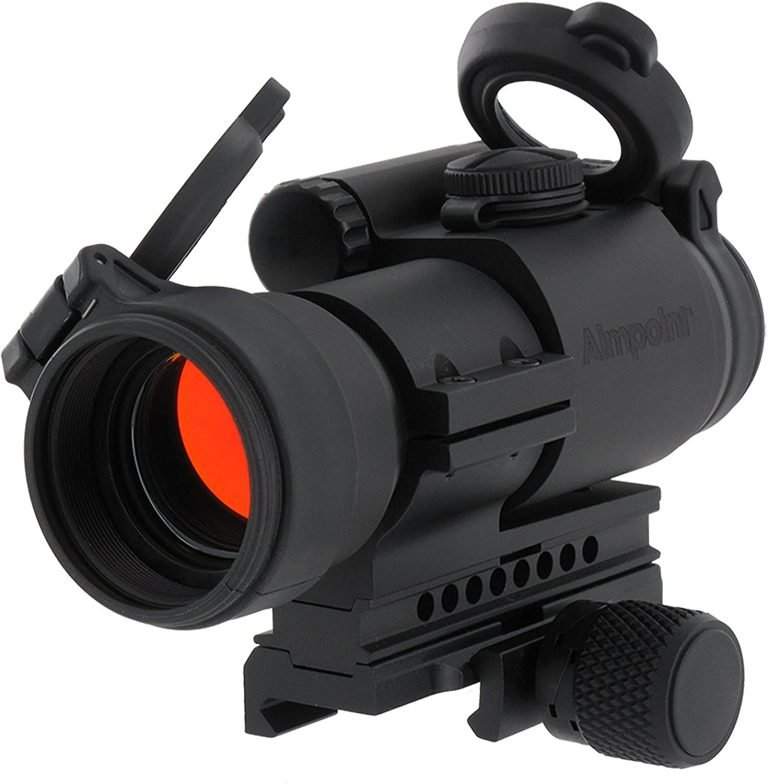image of Aimpoint PRO Red Dot Reflex Sight with QRP2 Mount and Spacer – 2 MOA