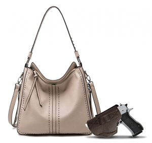 image of Montana West Large Concealed Carry Leather Hobo Purse