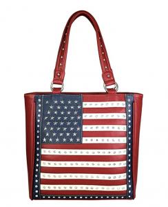 image of Patriotic Studded Tote Satchel Handbags