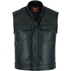 A&H Apparel Mens Genuine Cowhide Leather Vest