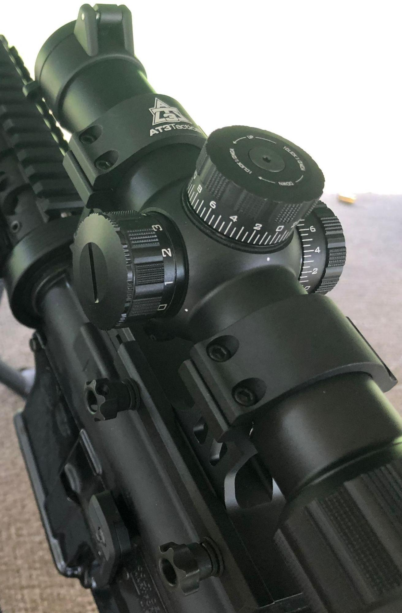 AT3 Tactical Red Tail Windage and Elevation Knobs