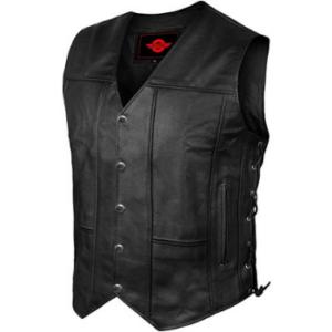 Alpha Leather Motorcycle Vest