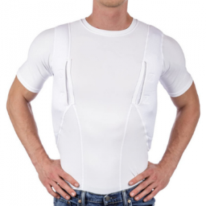 CCW Tactical Holster Shirt for Concealed Carry Compression Fit Clothing