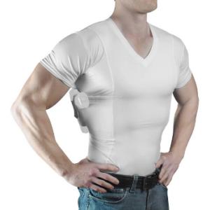 ConcealmentClothes Men's V-Neck- Concealed Carry Holster Shirt