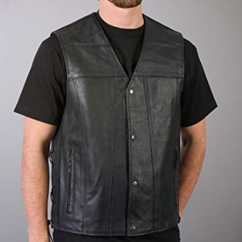 image of Hot Leathers Unisex-Adult Concealed Carry Leather Vest